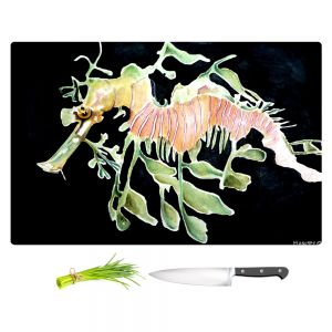 Artistic Kitchen Bar Cutting Boards | Marley Ungaro - Deep Sea Life - Sea Dragon