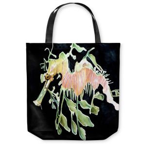 Unique Shoulder Bag Tote Bags | Marley Ungaro Deep Sea Life - Sea Dragon