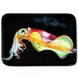 Decorative Bathroom Mats | Marley Ungaro - Deep Sea Life- Squid