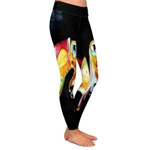 Casual Comfortable Leggings | Marley Ungaro Deep Sea Life - Squid