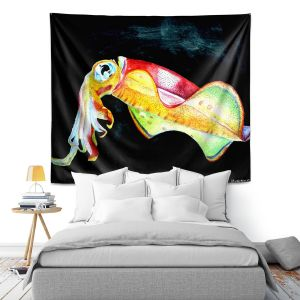 Artistic Wall Tapestry | Marley Ungaro Deep Sea Life - Squid