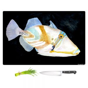 Artistic Kitchen Bar Cutting Boards | Marley Ungaro - Deep Sea Life - Trigger Fish