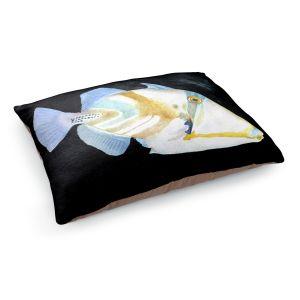 Decorative Dog Pet Beds | Marley Ungaro's Deep Sea Life- Trigger Fish