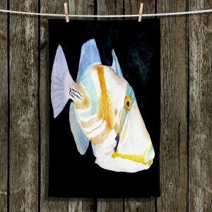 Unique Hanging Tea Towels | Marley Ungaro - Deep Sea Life- Trigger Fish | Tropical Fish
