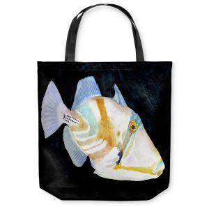 Unique Shoulder Bag Tote Bags | Marley Ungaro Deep Sea Life - Trigger Fish