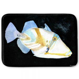 Decorative Bathroom Mats | Marley Ungaro - Deep Sea Life- Trigger Fish