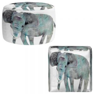 Round and Square Ottoman Foot Stools | Marley Ungaro - Elephant