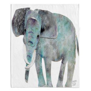 Decorative Fleece Throw Blankets   Marley Ungaro - Elephant