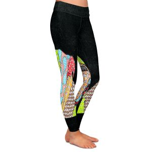 Unique Leggings Medium from DiaNoche Designs by Marley Ungaro - English Bulldog Black