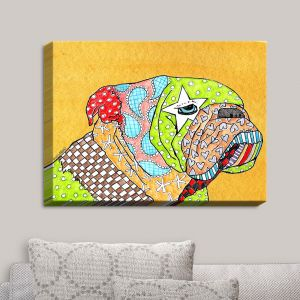 Decorative Canvas Wall Art | Marley Ungaro - English Bulldog Gold