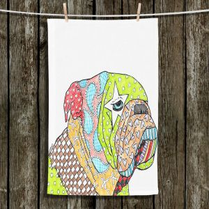 Unique Bathroom Towels | Marley Ungaro - English Bulldog White