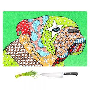 Artistic Kitchen Bar Cutting Boards | Marley Ungaro - English Bulldog Kelly