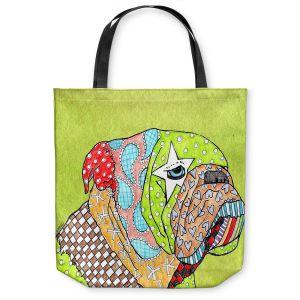 Unique Shoulder Bag Tote Bags | Marley Ungaro English Bulldog Lime