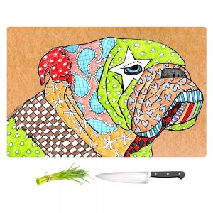 Artistic Kitchen Bar Cutting Boards | Marley Ungaro - English Bulldog Tan