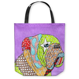 Unique Shoulder Bag Tote Bags | Marley Ungaro English Bulldog Violet