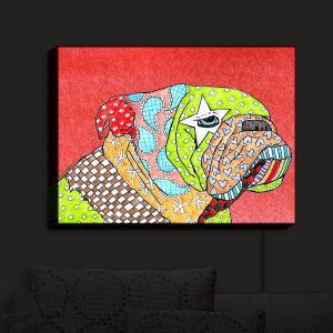 Nightlight Sconce Canvas Light | Marley Ungaro - English Bulldog Watermelon
