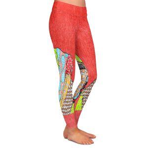 Casual Comfortable Leggings | Marley Ungaro English Bulldog Watermelon