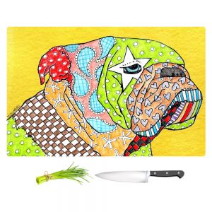 Artistic Kitchen Bar Cutting Boards | Marley Ungaro - English Bulldog Yellow