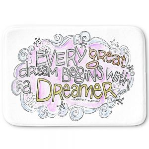 Decorative Bathroom Mats | Marley Ungaro - Every Great Dream | Text typography words