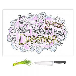 Artistic Kitchen Bar Cutting Boards | Marley Ungaro - Every Great Dream | Text typography words
