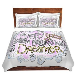 Artistic Duvet Covers and Shams Bedding | Marley Ungaro - Every Great Dream | Text typography words