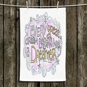 Unique Hanging Tea Towels | Marley Ungaro - Every Great Dream | Text typography words