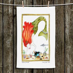 Unique Hanging Tea Towels | Marley Ungaro - Exploring Mermaid | Cute Mermaid Artwork