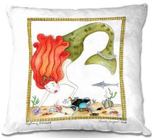 Throw Pillows Decorative Artistic | Marley Ungaro Exploring Mermaid