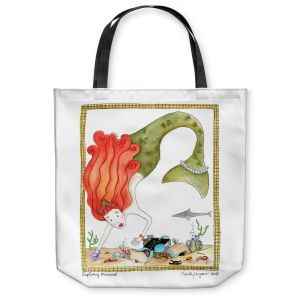 Unique Shoulder Bag Tote Bags | Marley Ungaro Exploring Mermaid