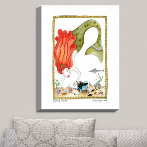 Decorative Canvas Wall Art | Marley Ungaro - Exploring Mermaid