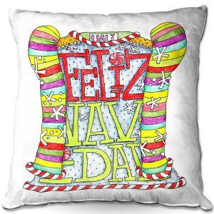 Decorative Outdoor Patio Pillow Cushion | Marley Ungaro - Feliz Navidad | Christmas Quote