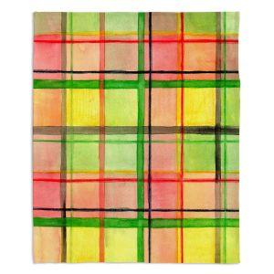 Decorative Fleece Throw Blankets | Marley Ungaro - Ferrari Plaid
