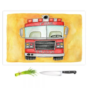 Artistic Kitchen Bar Cutting Boards | Marley Ungaro - Fire Truck | Fire Engine