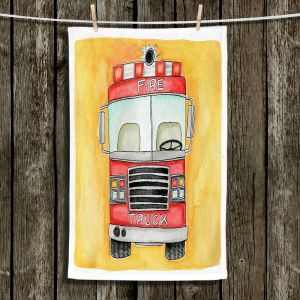 Unique Hanging Tea Towels | Marley Ungaro - Fire Truck
