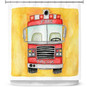 Premium Shower Curtains | Marley Ungaro - Fire Truck