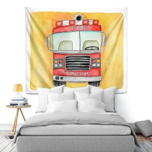 Artistic Wall Tapestry | Marley Ungaro - Fire Truck | Fire Engine