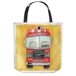 Unique Shoulder Bag Tote Bags | Marley Ungaro - Fire Truck | Fire Engine