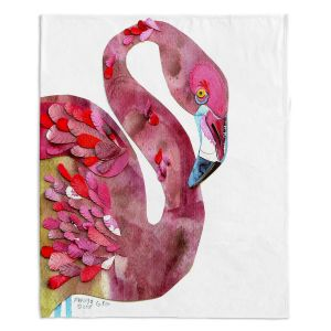 Decorative Fleece Throw Blankets | Marley Ungaro - Flamingo