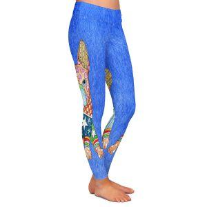 Casual Comfortable Leggings | Marley Ungaro French Bulldog Blue