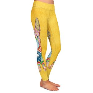 Casual Comfortable Leggings | Marley Ungaro French Bulldog Gold