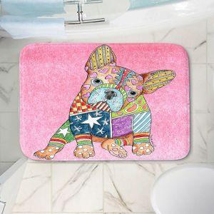 Decorative Bathroom Mats | Marley Ungaro - French Bulldog Light Pink