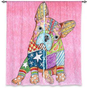 Decorative Window Treatments | Marley Ungaro French Bulldog Light Pink