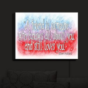 Nightlight Sconce Canvas Light | Marley Ungaro - Friend Quote | Quotes Friendships
