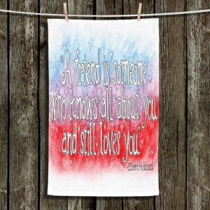 Unique Hanging Tea Towels | Marley Ungaro - Friend Quote | Quotes Friendships