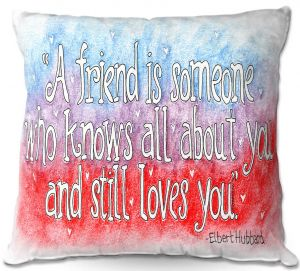 Decorative Outdoor Patio Pillow Cushion | Marley Ungaro - Friend Quote