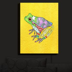 Nightlight Sconce Canvas Light | Marley Ungaro - Frog Yellow