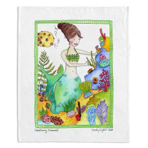 Decorative Fleece Throw Blankets | Marley Ungaro - Gardening Mermaid