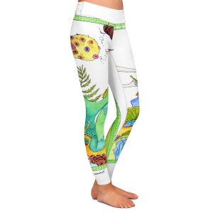Casual Comfortable Leggings | Marley Ungaro Gardening Mermaid