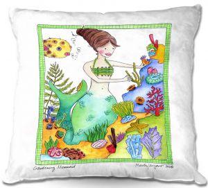 Throw Pillows Decorative Artistic | Marley Ungaro Gardening Mermaid