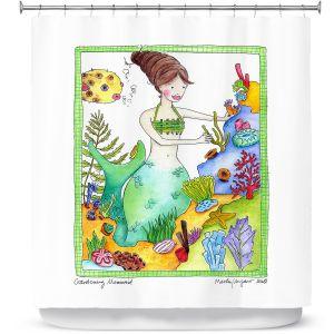 Premium Shower Curtains | Marley Ungaro Gardening Mermaid